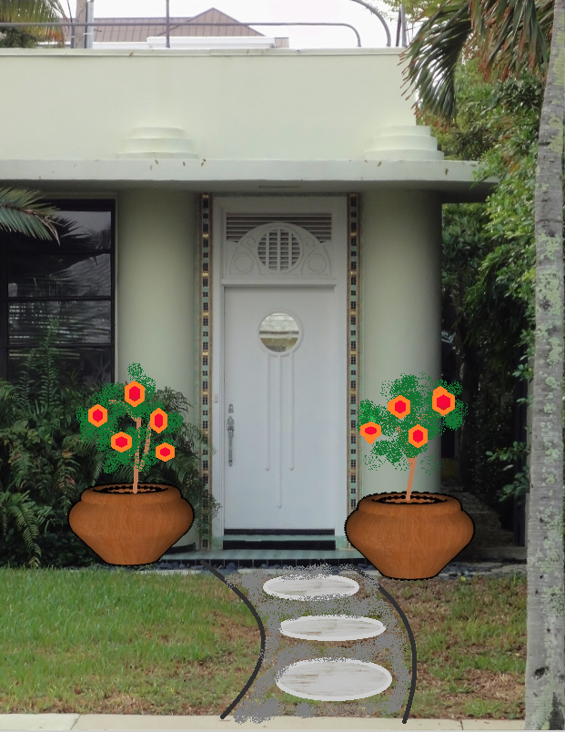 Give Your Front Door A Budget And Time Friendly Face Lift For Spring! Decor  Girl Spells It Out Simply  Just Remember PDP  Paint, Decorate And Plant!