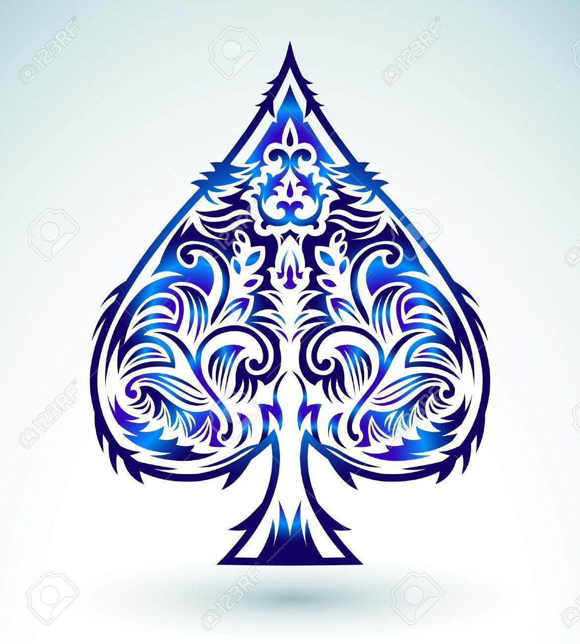 21010845 design di stile tribale vanga asso carte da gioco da poker tribal style design spade ace poker playing cards illustration by julioaldana via dreamstime biocorpaavc Choice Image