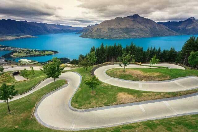 Luge Track In Queenstown,New Zealand