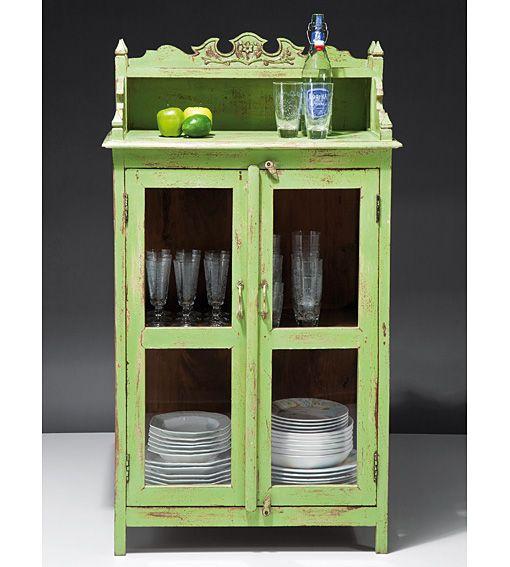 Muebles alacena vintage verde alicia for Muebles de cocina sueltos