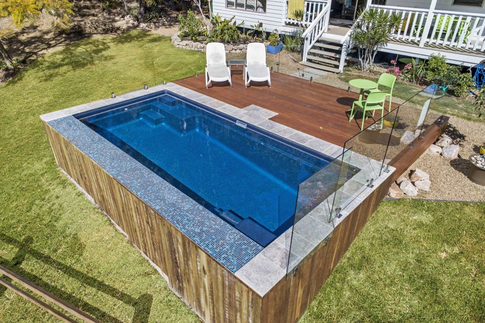 Free Standing Above Ground Swimming Pools: Blue Azurite Free Standing / Above