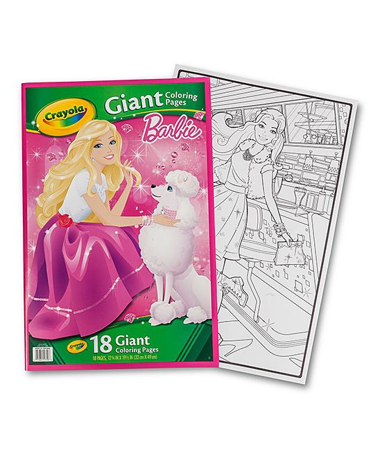 Barbie Giant Coloring Pad Coloring Pages Crayola Gifts For Kids