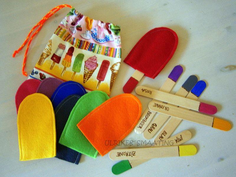 Motorikspiele lernspiel eis am stiel farben lernen for Raumgestaltung montessori