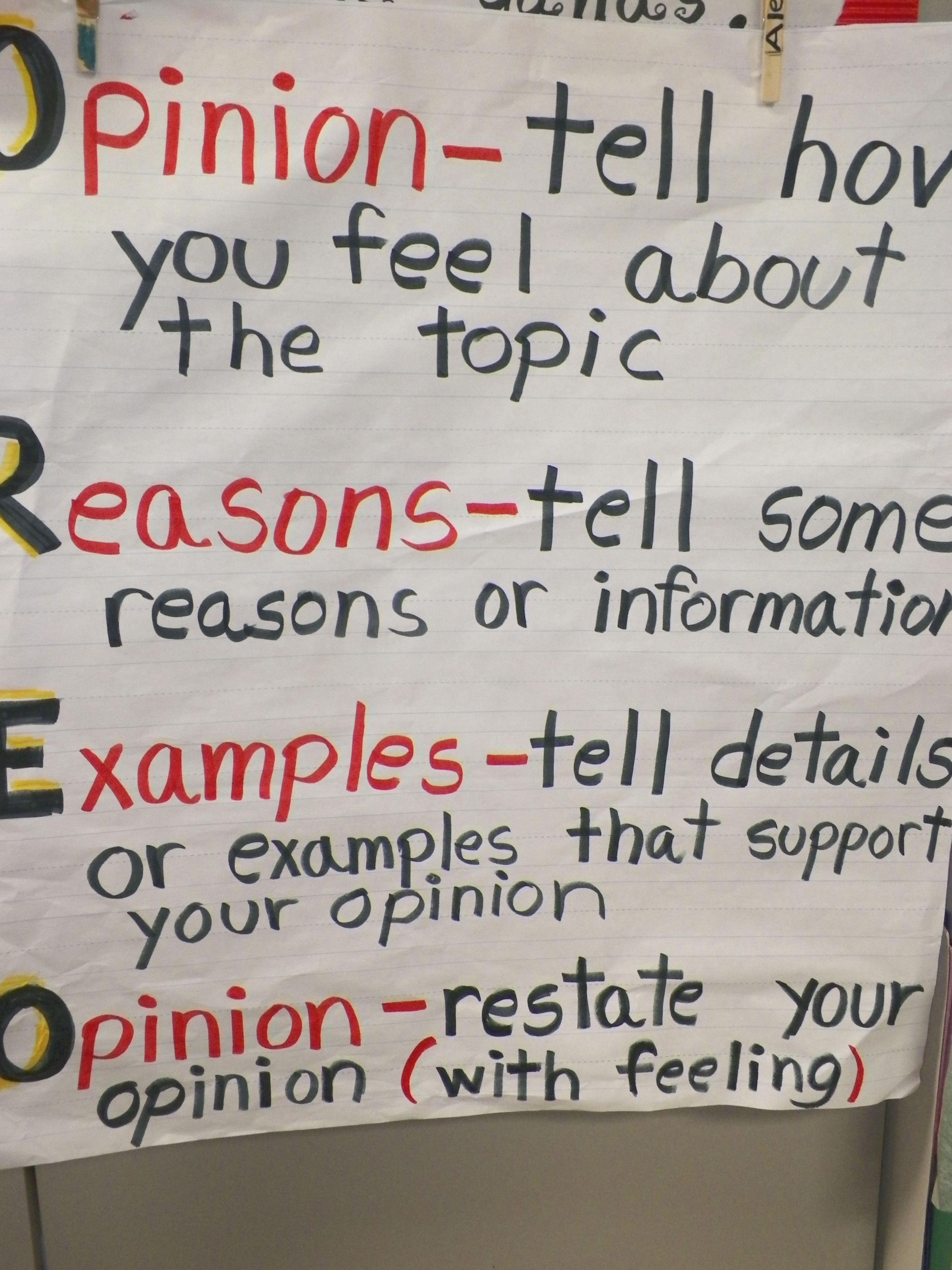 Oreo Strategy For Persuasive Writing