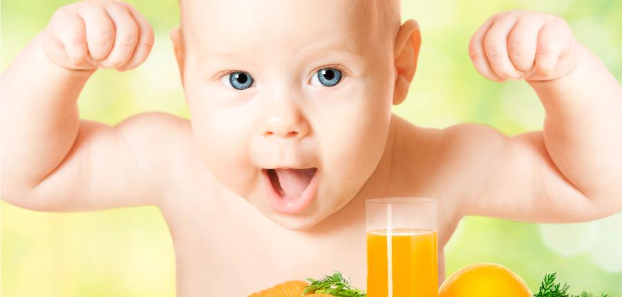 Criança dá aula sobre alimentos saudáveis