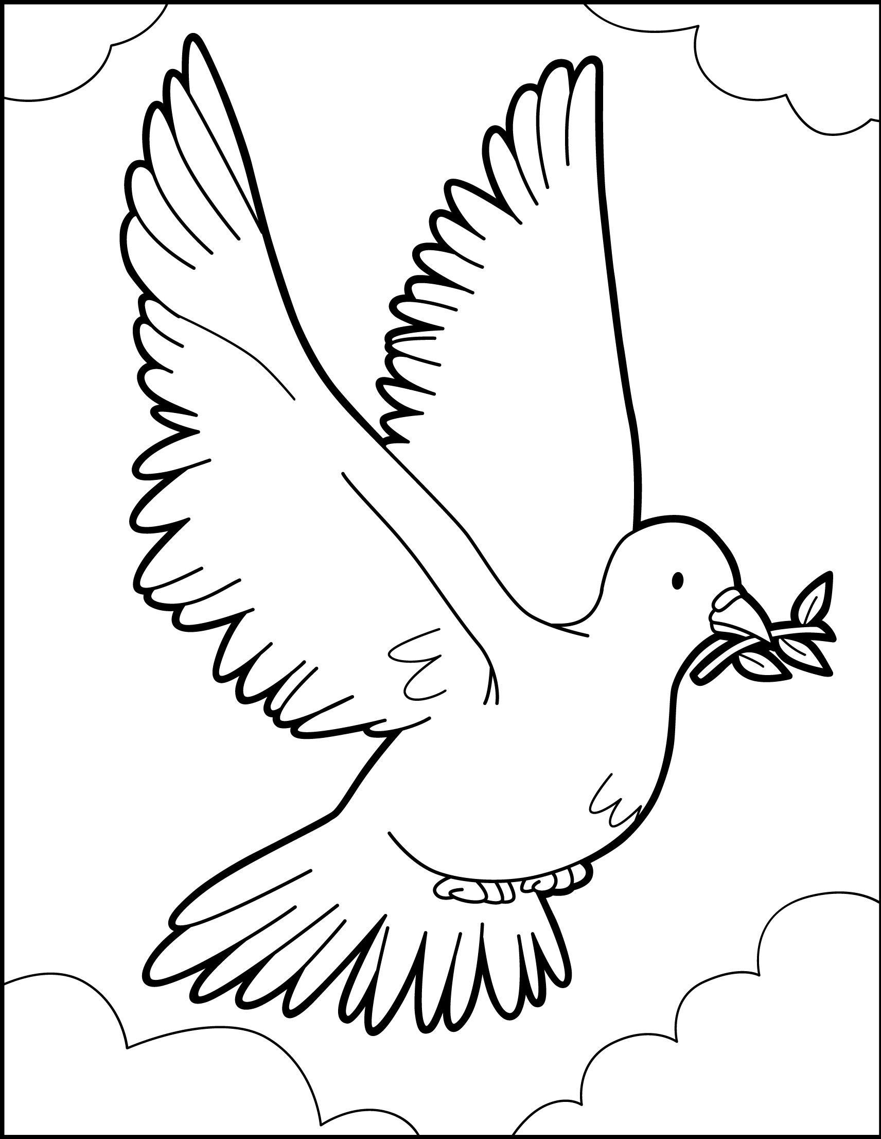 O Voo Da Pomba Da Paz Pomba Da Paz Animais Para Colorir Pomba