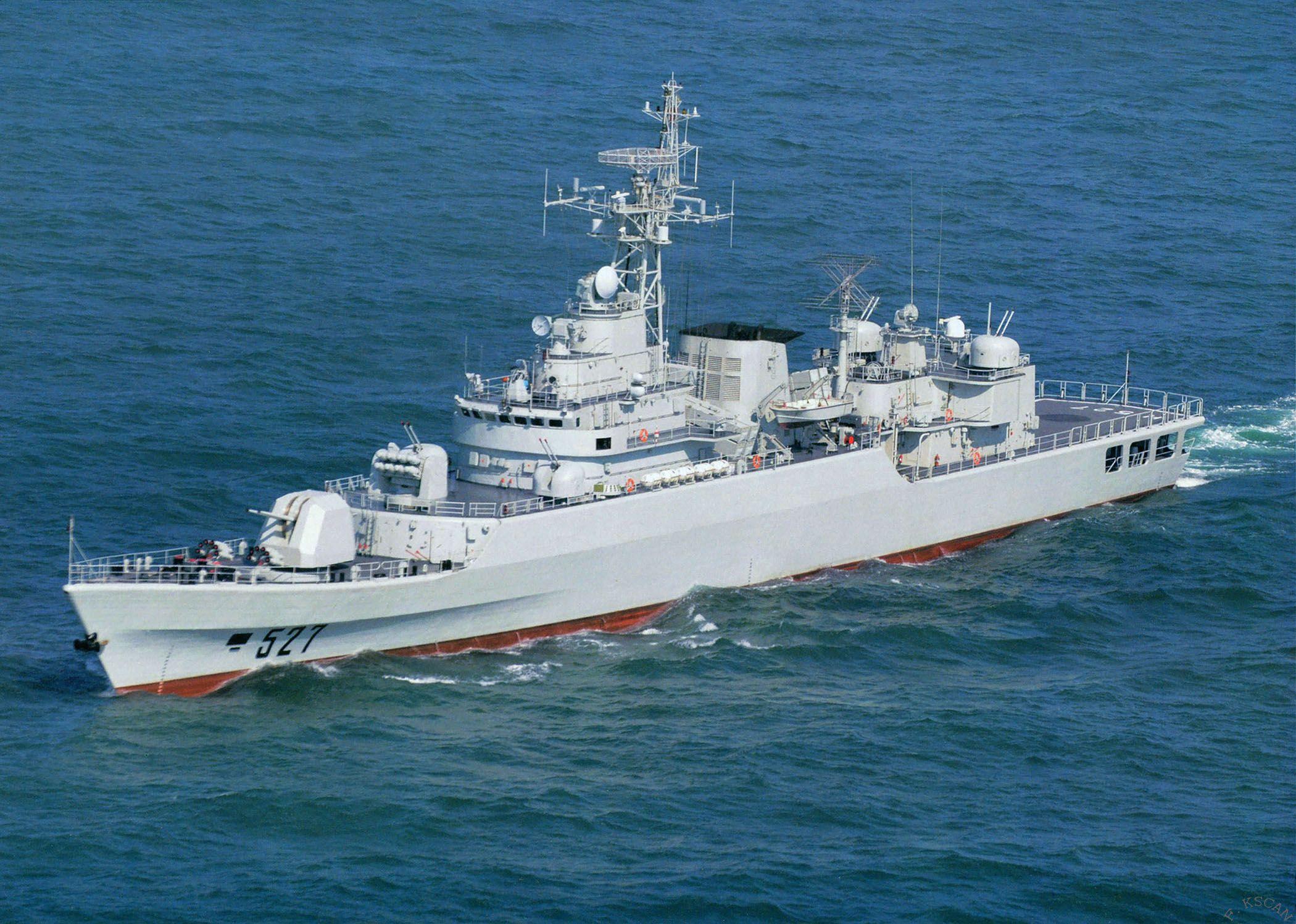 Luoyang 527 type 053h3 jiangwei li class frigate for 527 plan