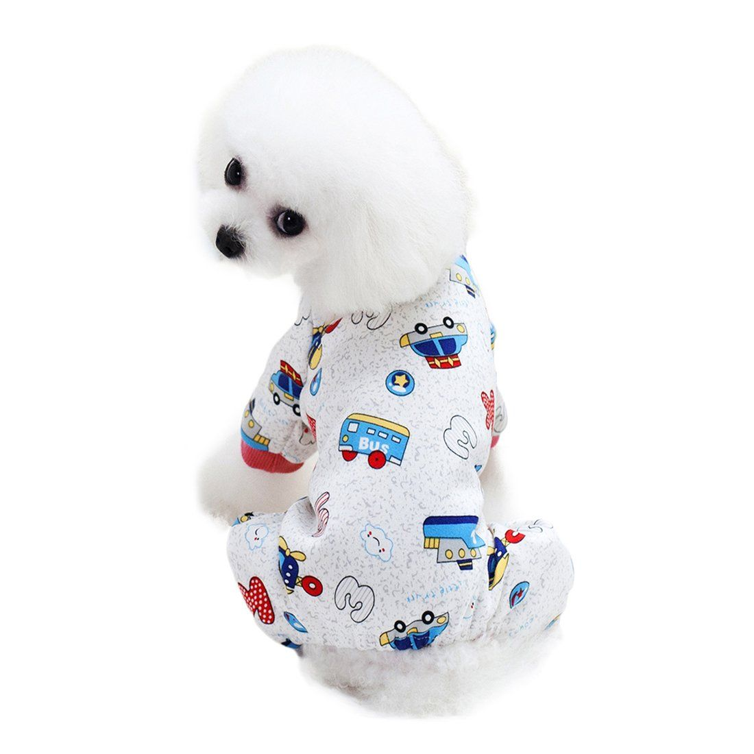 Scheppend Cozy Pet Pajamas Shirt For Small Dogs Thick Onesie