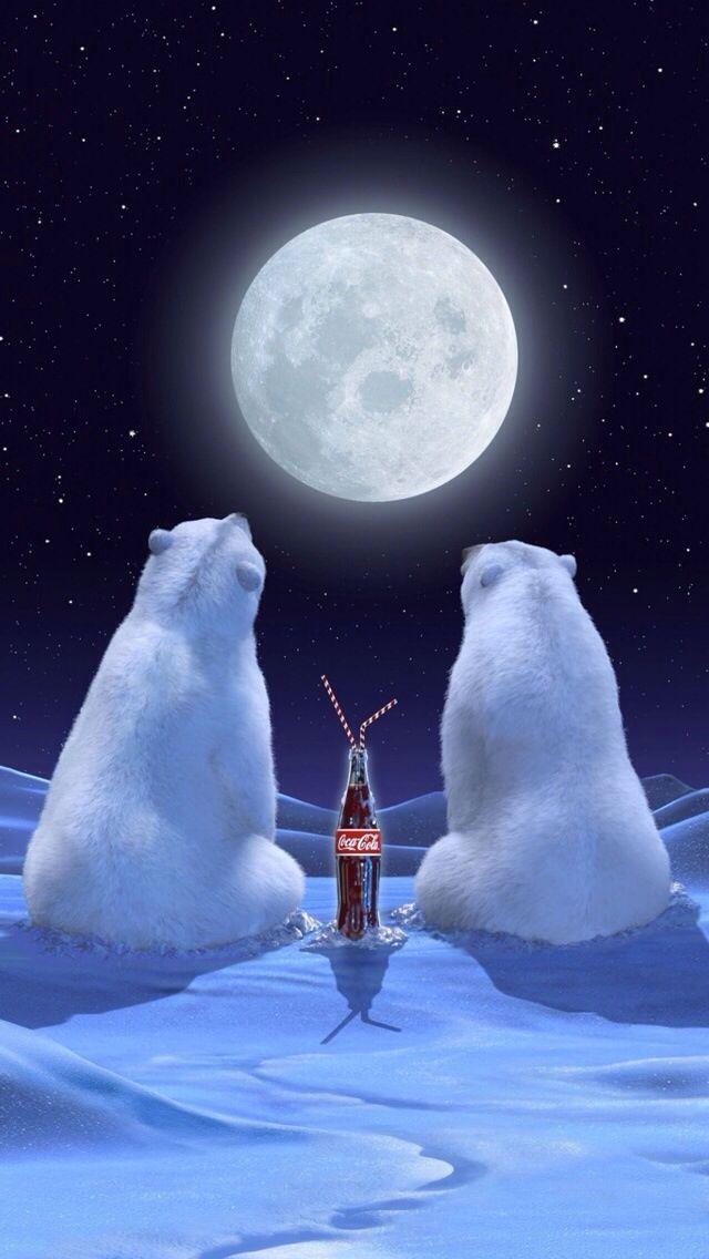 coca cola polar bears iphone wallpaper background