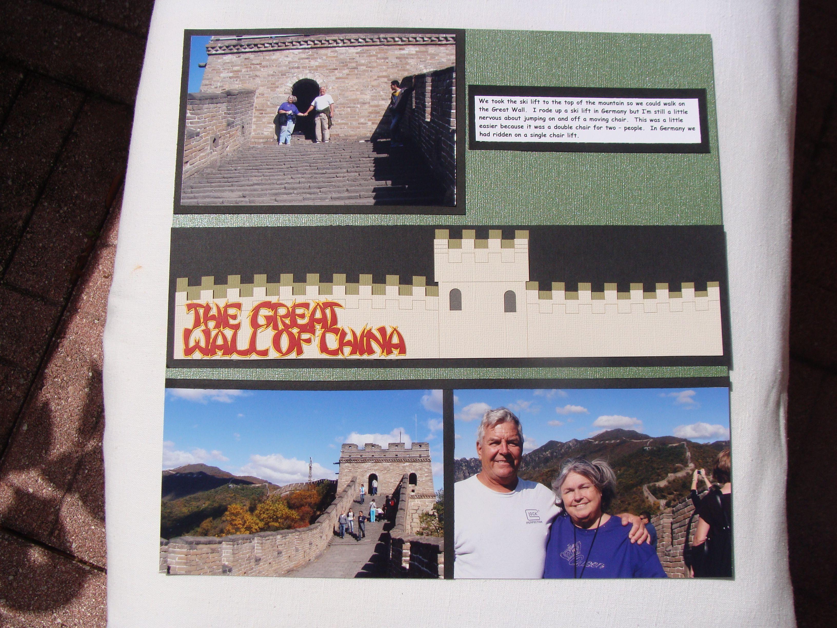 Scrapbook ideas china - Great Wall Of China 2 Scrapbook Com