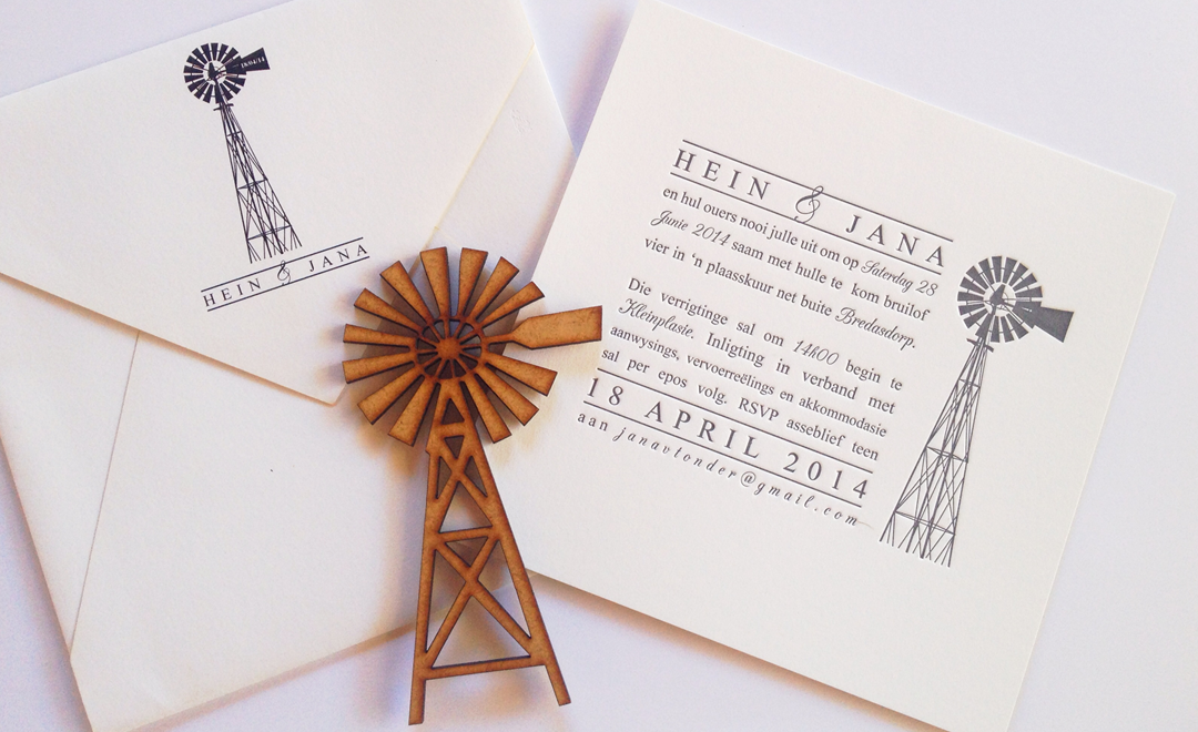 Hein and Jana | CottonCloud Letterpress Wedding Invites ...