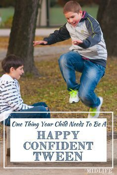 """Whatever you call them - young teens, pre-teens, or tweens - it's a challenging stage. Parenting this age means swimming upstream most days. But allowing our tweens to have unstructured time (even if we feel they are """"wasting time"""") is crucial for them to grow into happy and confident tweens! #tweens #parenting www.themidlifemamas.com"""