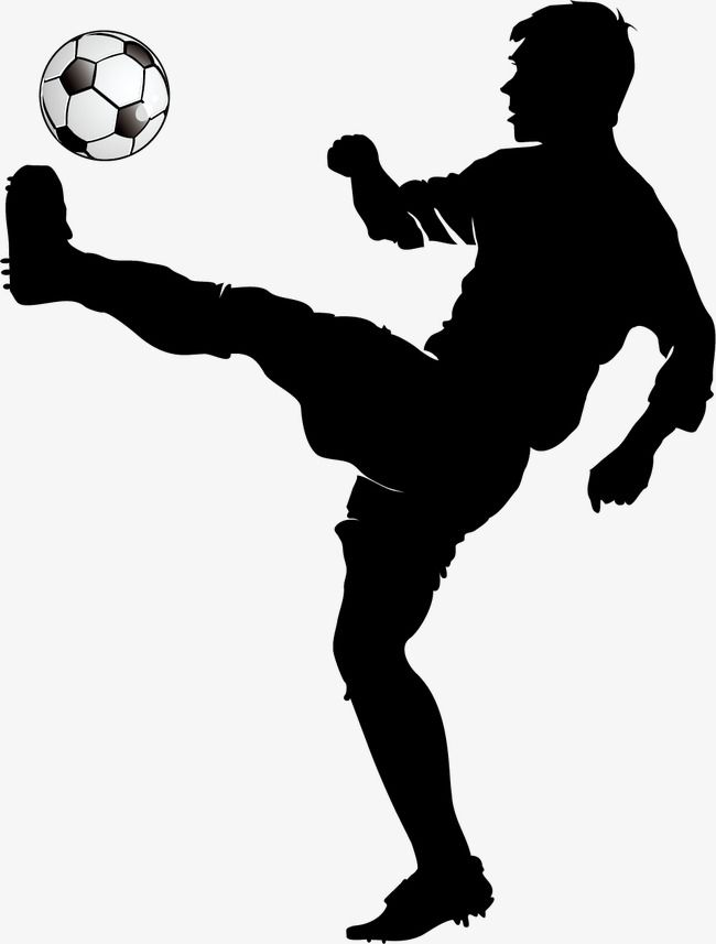 Football Player Silhouette Png And Vector Silhouette Silhouette Png Football Players