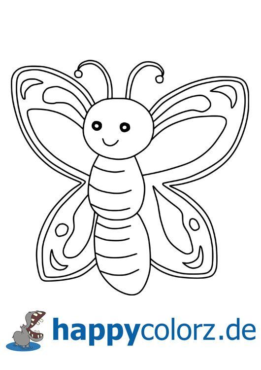 Süße kostenlose Schmetterling - Malvorlage diese und