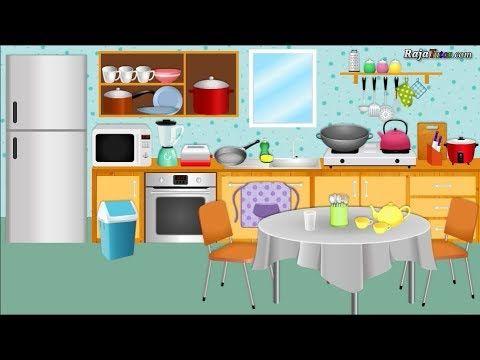 Belajar Bahasa Inggris Mengenal Kosa Kata Benda Dalam Rumah Di Dapur D