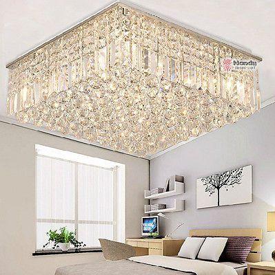 Modern luxury living room ceiling lamp fixture crystal - Living room ceiling light fixture ...