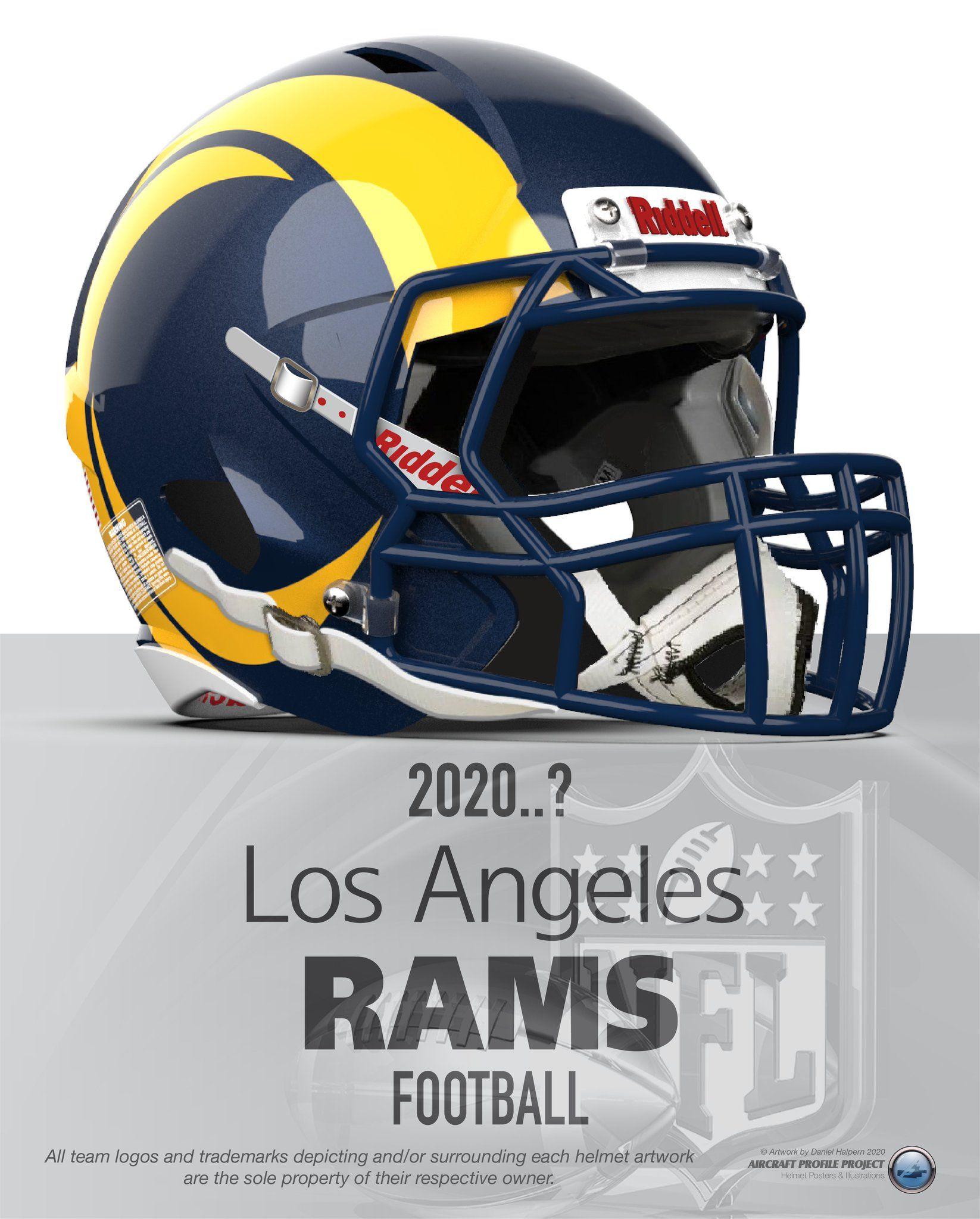 Los Angeles Rams 2020 In 2020 La Rams Rams Football Football Helmets