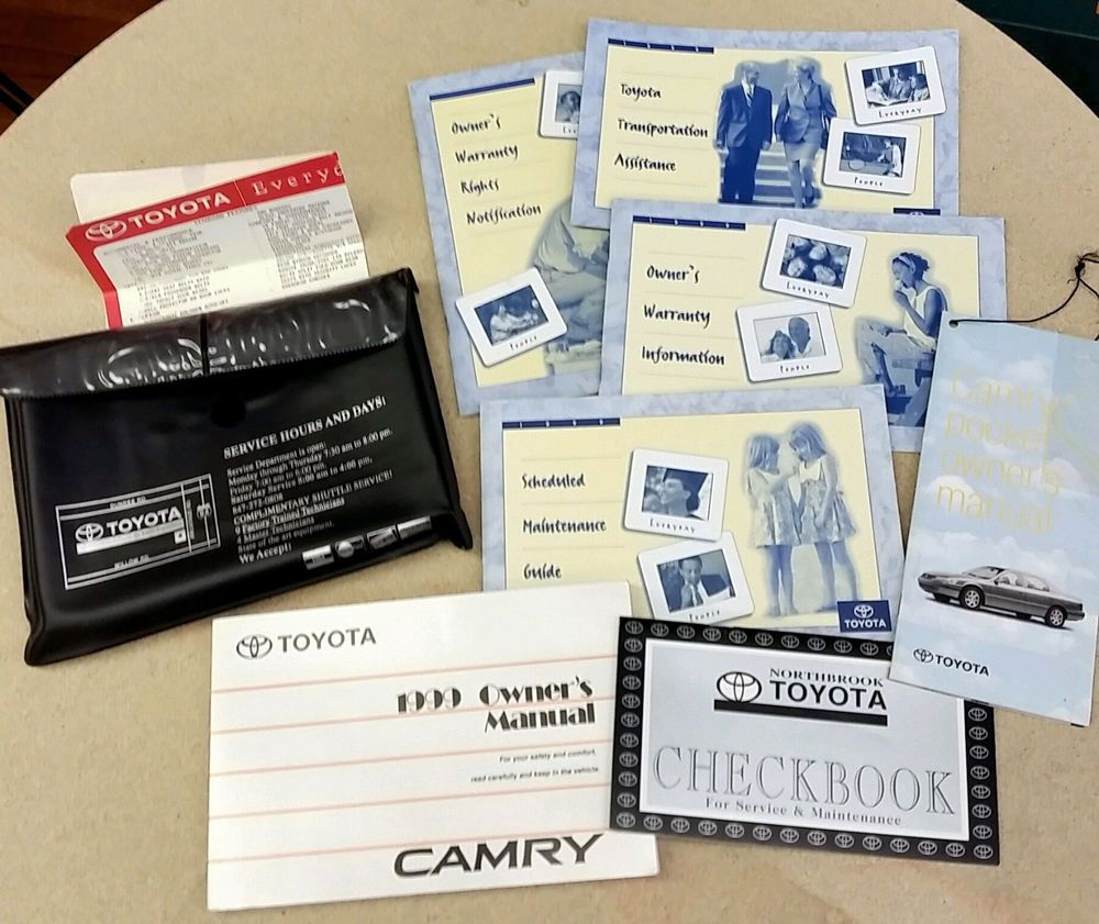 1999 Toyota Camry Owners Manual Set