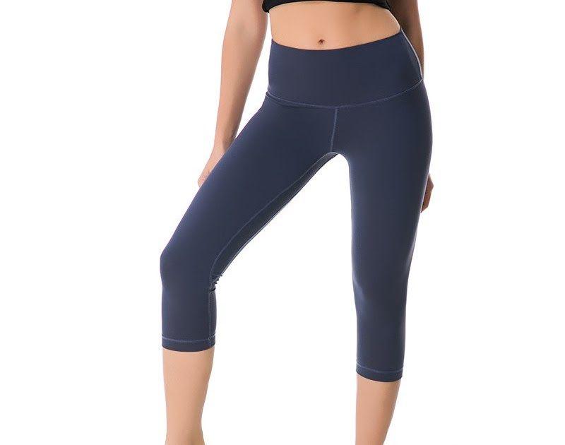b1d80edd61e235 Best Price NWT 2018 Woman Capris sports gym crop sexy lulu gym Tummy  Control leggings super quality 4 way stretch fabric size us4-us12