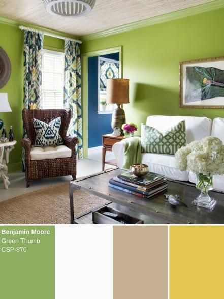 Delightfully Soothing This Unique Shade Of Green Pairs Well With Lighter Colors And Natural Materials Browse Our Best Id Green Painted Walls Decor Home Decor