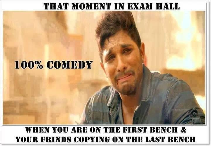 Funny Reaction When You Sit On The First Bench At Exam Hall
