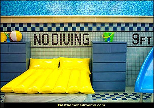 Swim Bed Room Swimming Pool Theme Bedroom Decorating
