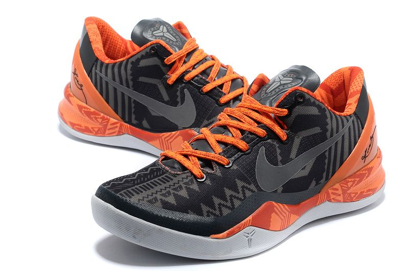 20% off Again to Buy Kobe 8 System Black History Month Anthracite Total  Orange 555035