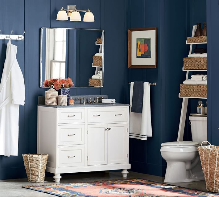 Ainsley Over The Toilet Ladder Pb Organize Storage Pinterest Large Mirrors Bath