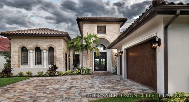 The Sater Design Collection's luxury, Tuscan home plan ...