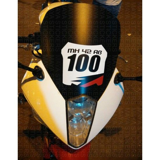 Motocross Racing Style Number Plate Stickers For Bikes Number