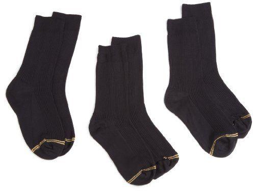 Gold Toe Big Boys 3 Pack Microfiber Dress Sock