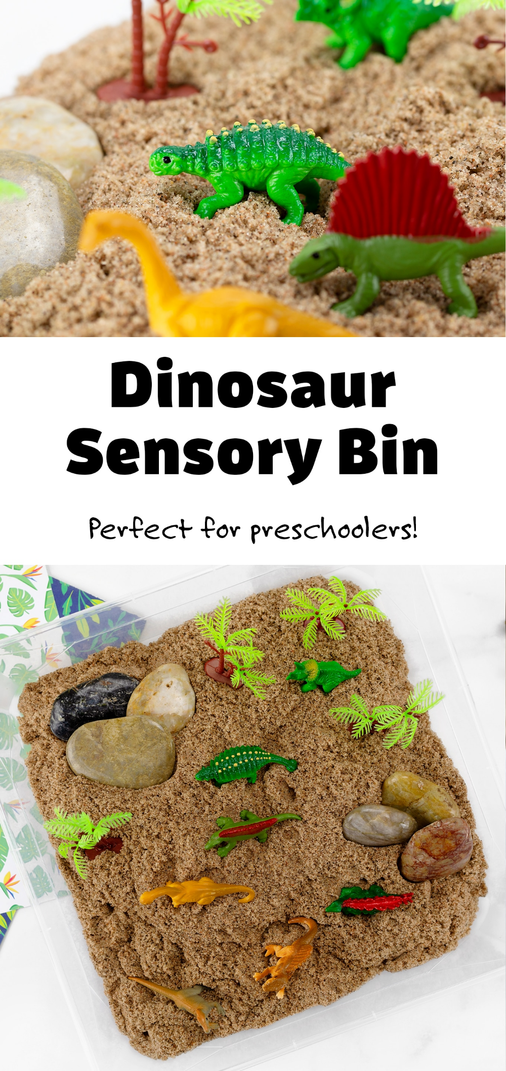 Dinosaur Sensory Bin | Fireflies and Mud Pies