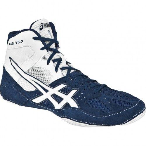 Asics CAEL V6.0 Mens Wrestling Shoe J401Y.5001 Navy-White