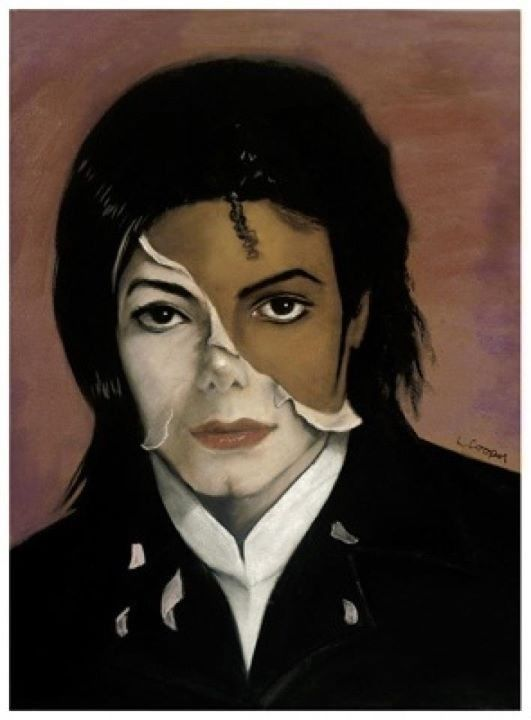 artists's take on MJ's plastic surgery