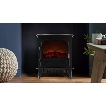 Caesar Fireplace Fp201r Electric Log Set Heater With Realistic