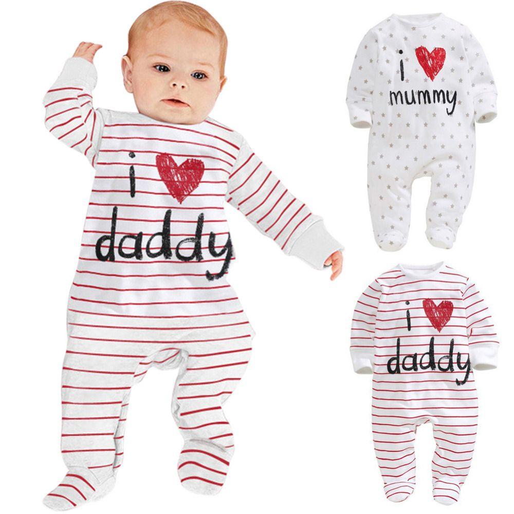 3e107a0329de Click to Buy    Baby Boy Girl Clothes Long Sleeve Love Heart Print ...