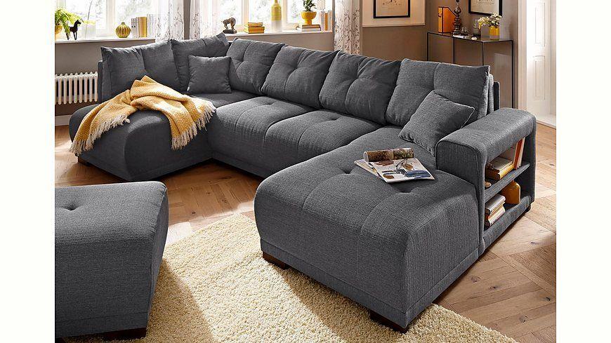 Home Affaire Wohnlandschaft Viborg Mit Regal In Der Armlehne Wahlweise Mit Bettfunktion Jetzt Bestellen Unter Https Big Sofas Home Decor Sectional Couch