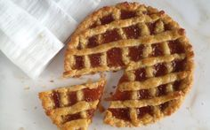 Pasta flora is a delightful traditional jam tart and one of the most delicious, authentic sweet treats of Greece.