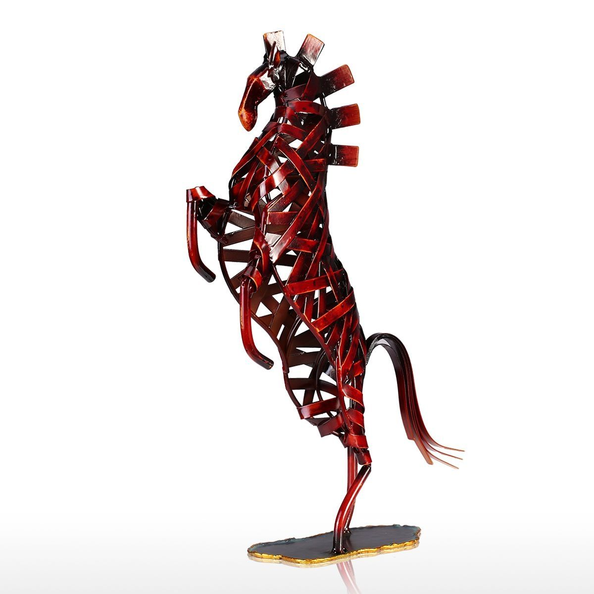 Tooarts Metal Figurine Iron Rooster Home Decor Articles: Best And Cheap Red Tooarts Metal Weaving Horse Iron