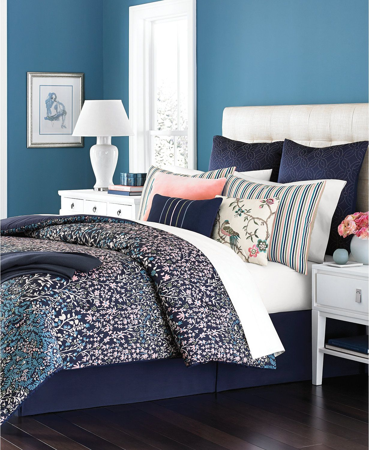 Martha Collection Cloister California King Comforter Set Created For Macy S Bed In A Bag Bath
