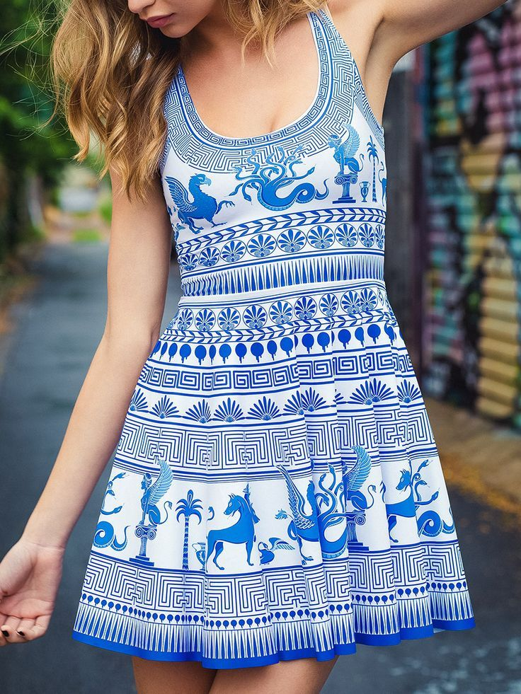 Olympus Scoop Skater Dress (WW ONLY $85AUD) by Black Milk Clothing