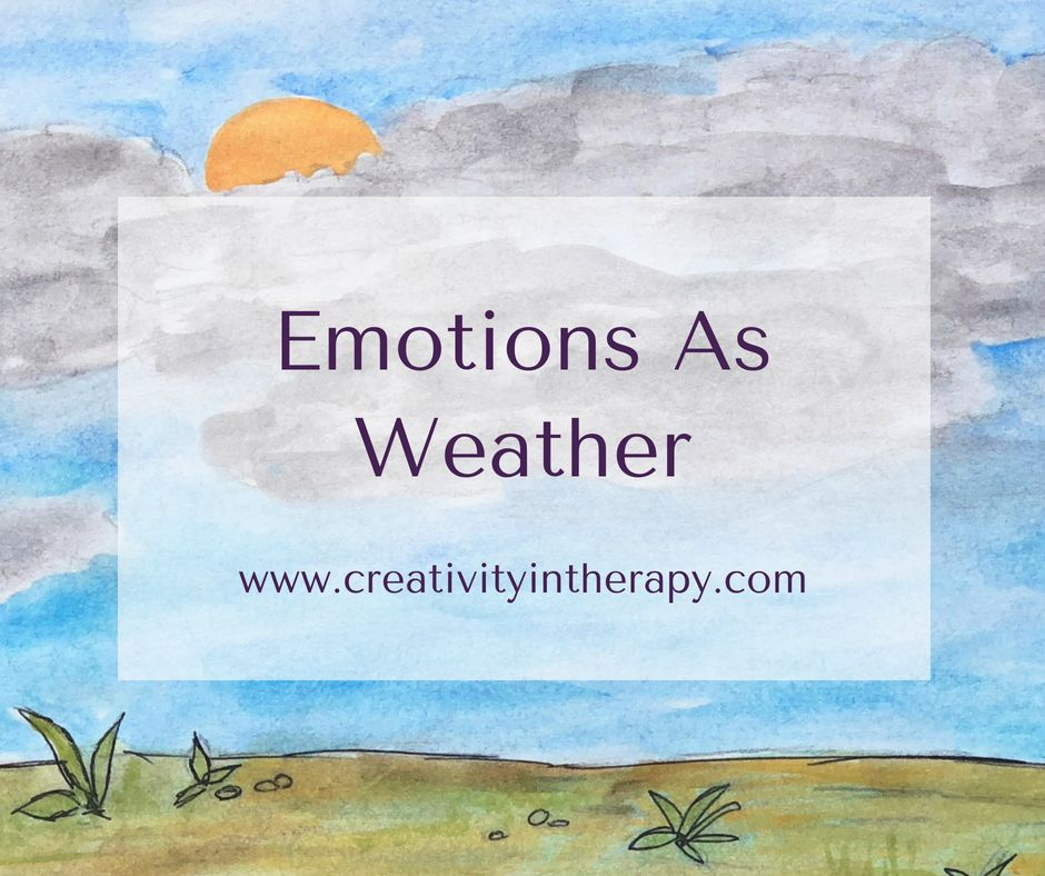 This Art In Therapy Directive Expressing Emotions As Weather