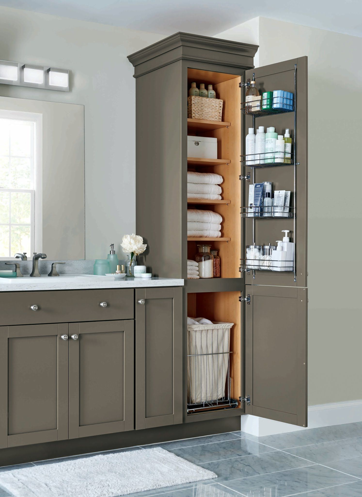 This Is Our Linen Closet With Four Adjustable Shelves And