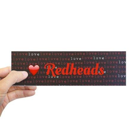 Heart redheads bumper sticker