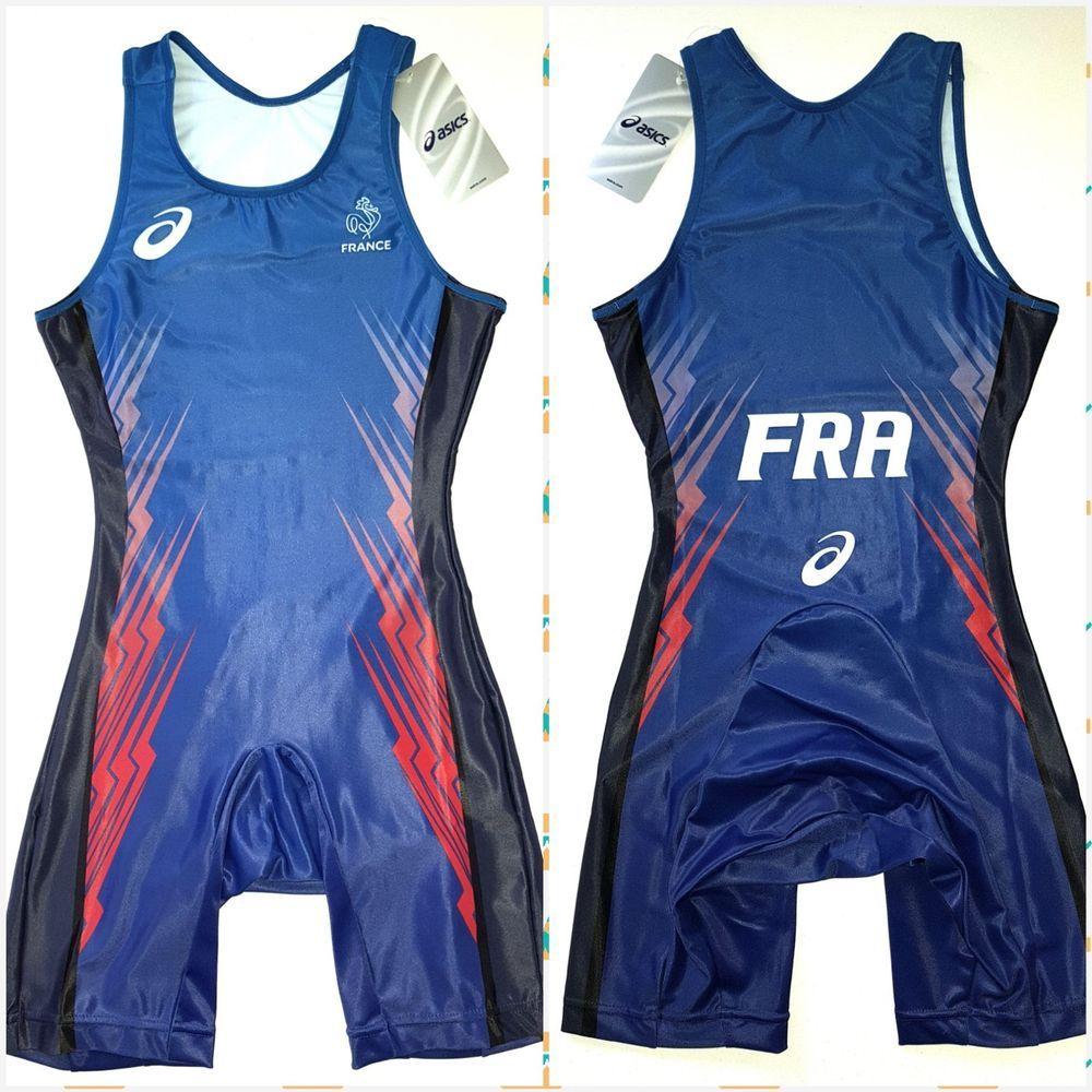 de372d525d5 ASICS PRO ELITE FRANCE Running Wrestling MMA Singlet Track and Field Olympic  M #ASICS #