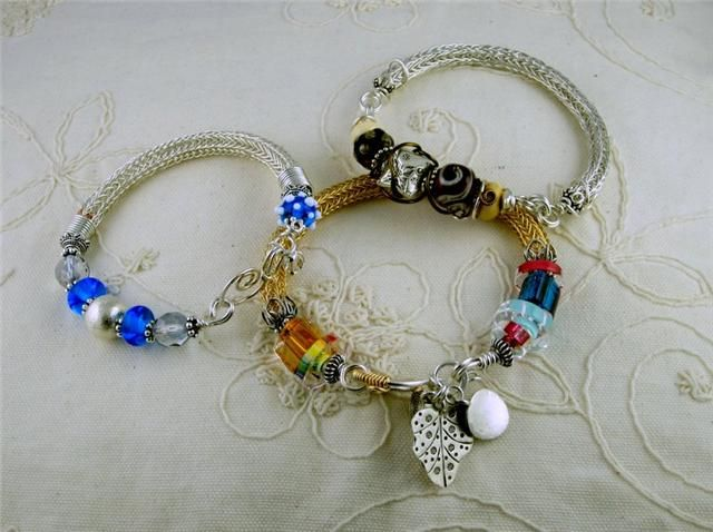 Viking Knit Bead Class At Strung Out On Beads In Abbotsford Bc Jewelry Pandora Charm Bracelet Charm Bracelet