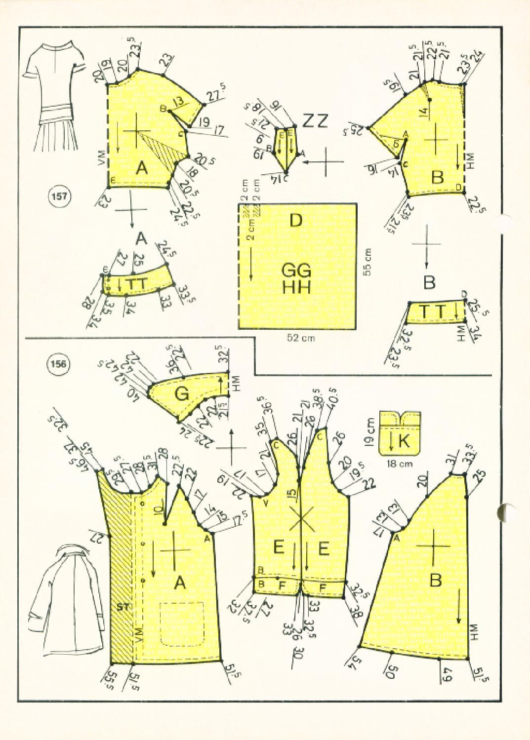 Vintage Sewing Patterns 127 winter 1972 Patternmaking | corte de oro ...