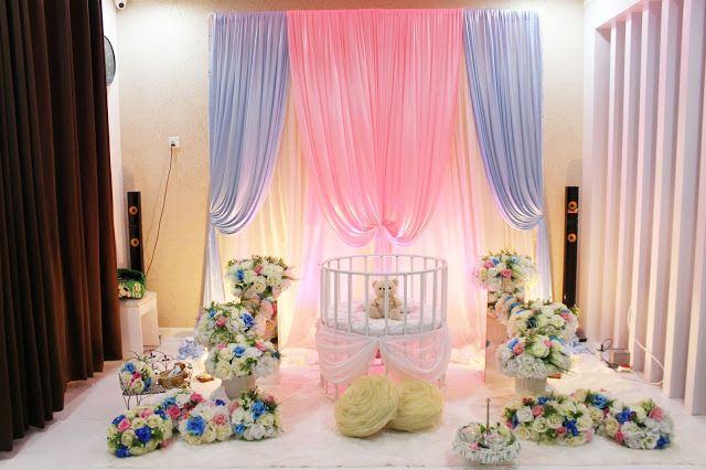 Decoration Baby Cradle For Naming Ceremony Pelamin Buaian