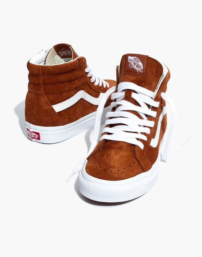 6d1487eb27 Madewell Vans Unisex SK8-Hi Reissue High-Top Sneakers in Brown Suede ...