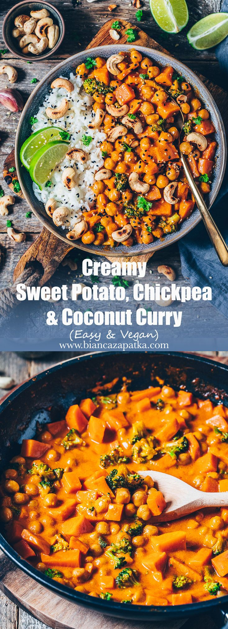 Sweet Potato, Chickpea and Coconut Curry – Bianca Zapatka | Recipes